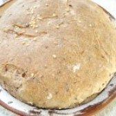 Як приготувати бездріжджовий пшенично-житній хліб з насінням льону - рецепт
