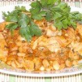 Як приготувати швидку квасоля в томаті з курячим м'ясом - рецепт