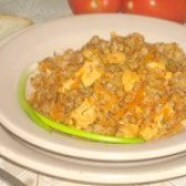 Як приготувати гречку з курячим філе і овочами в томатному соусі - рецепт