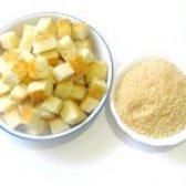 Як приготувати грінки для бульйону і панірувальні сухарі - рецепт