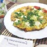 Як приготувати яєчню з моцарелою і зеленню - рецепт