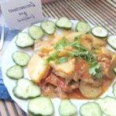 Як приготувати картопля тушкована з баклажанами - рецепт