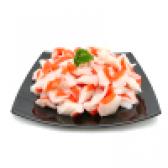 Заморожене крабове м'ясо - калорійність і склад. користь крабового м'яса