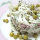 Як приготувати салат з капусти з шинкою і горошком - рецепт