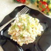 Як приготувати салат з крабових паличок легкий - рецепт