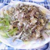 Як приготувати салат з ламінарії з грибами - рецепт