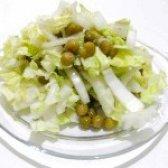 Як приготувати салат з пекінської капусти і зеленого горошку - рецепт