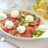 Як приготувати салат овочевий з кульками з фети - рецепт