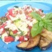 Як приготувати салат з булгуром і баклажанами - рецепт