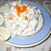 Як приготувати салат з крабовим м'ясом і оливками - рецепт