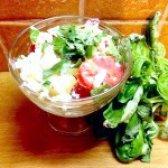 Як приготувати салат з печеним болгарським перцем і помідорами - рецепт