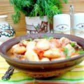 Як приготувати свинину з квасолею і овочами - рецепт