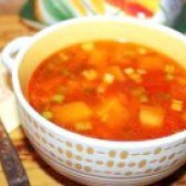 Як приготувати томатний суп з гарбузом і куркою - рецепт