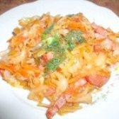Як приготувати смажену капусту з маринованими огірочками - рецепт