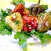 Як приготувати смажений болгарський перець з часником і зеленню - рецепт