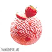 Полуничне морозиво. калорійність полуничного морозива