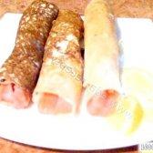 Кулінарний рецепт млинці з малосольної сьомгою з фото