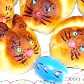 Кулінарний рецепт дріжджові булочки зайчата з фото