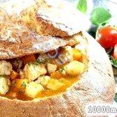 Кулінарний рецепт гуляш в хлібі з фото
