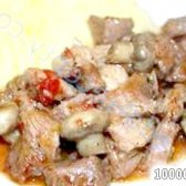 Кулінарний рецепт індичка з грибами з фото