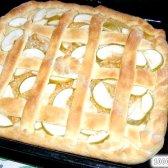 Кулінарний рецепт яблучний пиріг з дріжджового тіста з фото