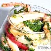 Кулінарний рецепт кальмари з креветками з фото