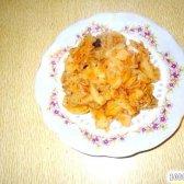 Кулінарний рецепт капуста тушкована з картоплею з фото