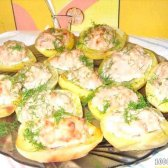 Кулінарний рецепт картопля з фаршем в духовці з фото