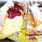 Кулінарний рецепт пиріг бісквіт з вишнею з фото