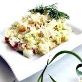 Кулінарний рецепт салат крабовий з ананасом з фото
