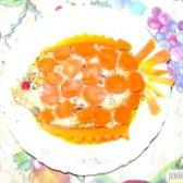 Кулінарний рецепт салат з копченою рибою рибка з фото