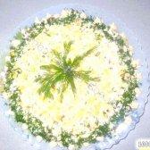 Кулінарний рецепт салат з кукурудзою і сухариками з фото