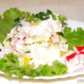 Кулінарний рецепт салат сир крабові палички з фото