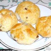 Кулінарний рецепт смачні булочки родзинка з фото