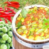 Кулінарний рецепт зелені помідори в бочці з фото