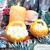 Рецепт порційний салат капуста з апельсинами і куркою з фото