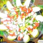 Рецепт салат крабові палички кукурудза огірок з фото
