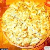 Рецепт тертий пиріг з яблуками, грушами, бананами з фото