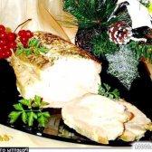 Рецепт запечена свинина на цибулевої подушці з італійськими травами і часником з фото