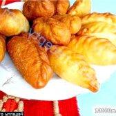 Рецепт смажені пиріжки з цибулею яйцем з листкового тіста з фото