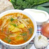 Як приготувати борщ з салом і часником - рецепт
