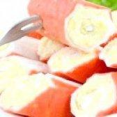 Як приготувати крабові палички фаршировані сиром - рецепт