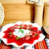 Як приготувати червоний борщ з квасолею - рецепт