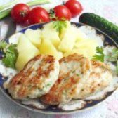 Як приготувати курячі котлети з сиром і зеленню - рецепт