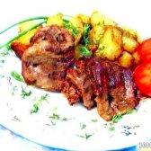 Кулінарний рецепт ароматне печеня з свинячого мови з фото
