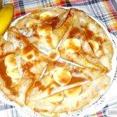 Кулінарний рецепт млинці з бананом і шоколадом з фото