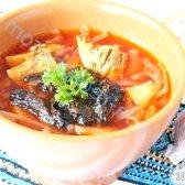 Кулінарний рецепт борщ з чорносливом з фото