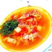 Кулінарний рецепт швидкий суп зі смаженим м'ясом з фото