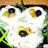 Кулінарний рецепт гнізда з рисової вермішелі з фото