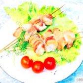 Кулінарний рецепт курячий шашлик в беконі з фото